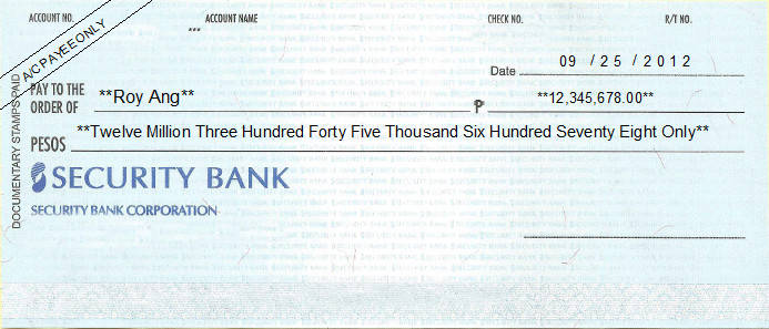 cheque writing printing software for the philippines banks